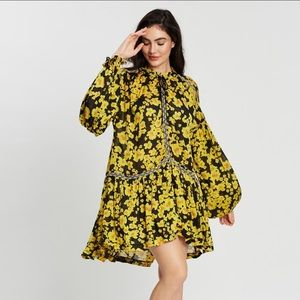 Free People Love Letter floral tunic NWT L